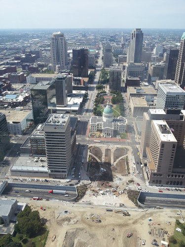 View from the arch