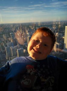 Kiddo with Toronto in the background