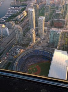 View of the Blue Jays game from the CN Tower
