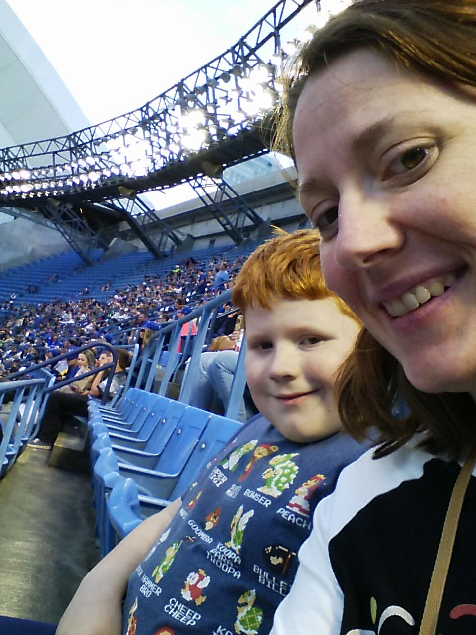 Us at the baseball game