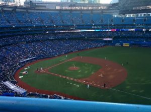 The view from our seats, pretty good for cheap tickets bought at the last minute from a scalper!
