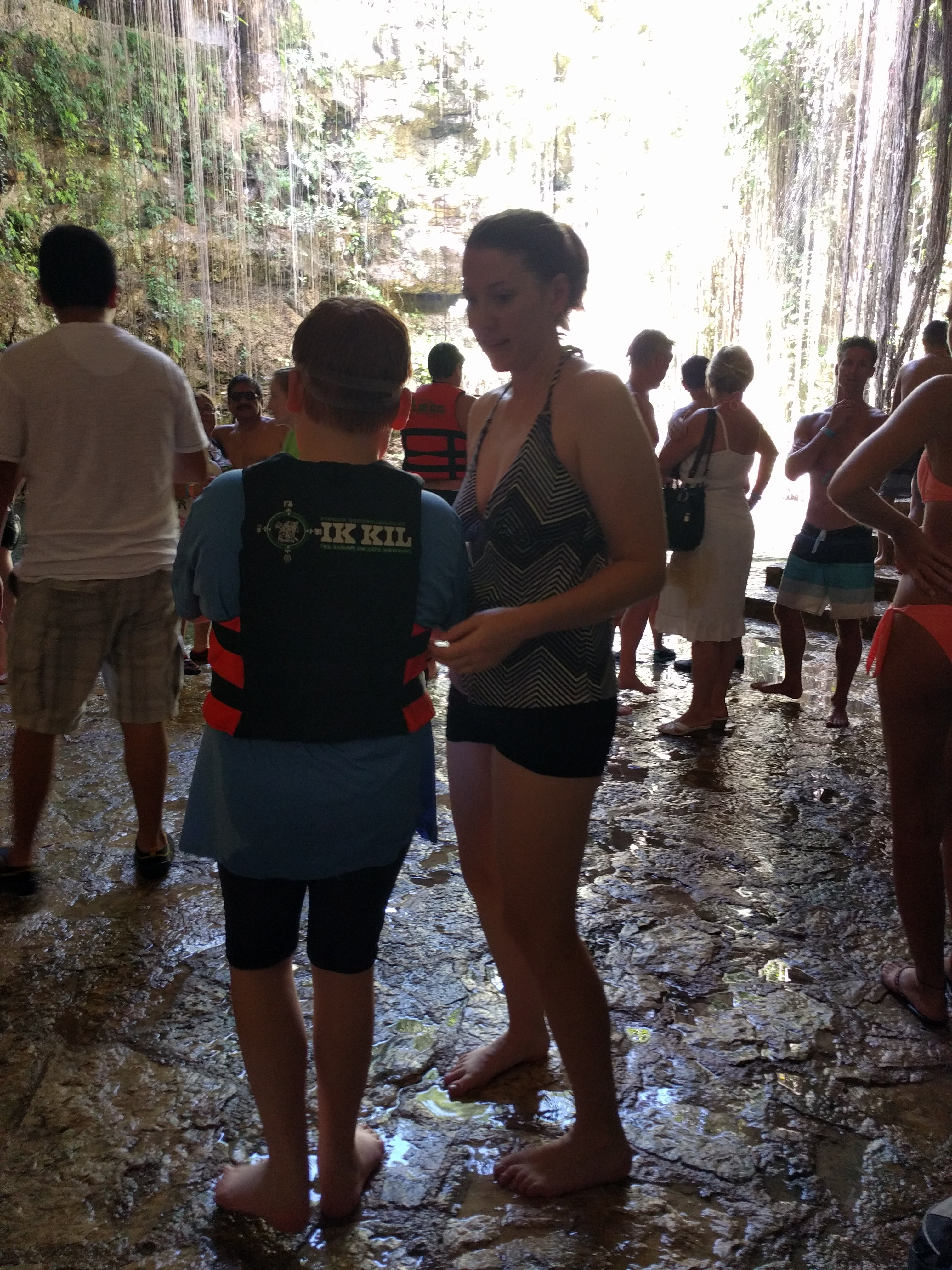 Us at Cenote Ik-Kil
