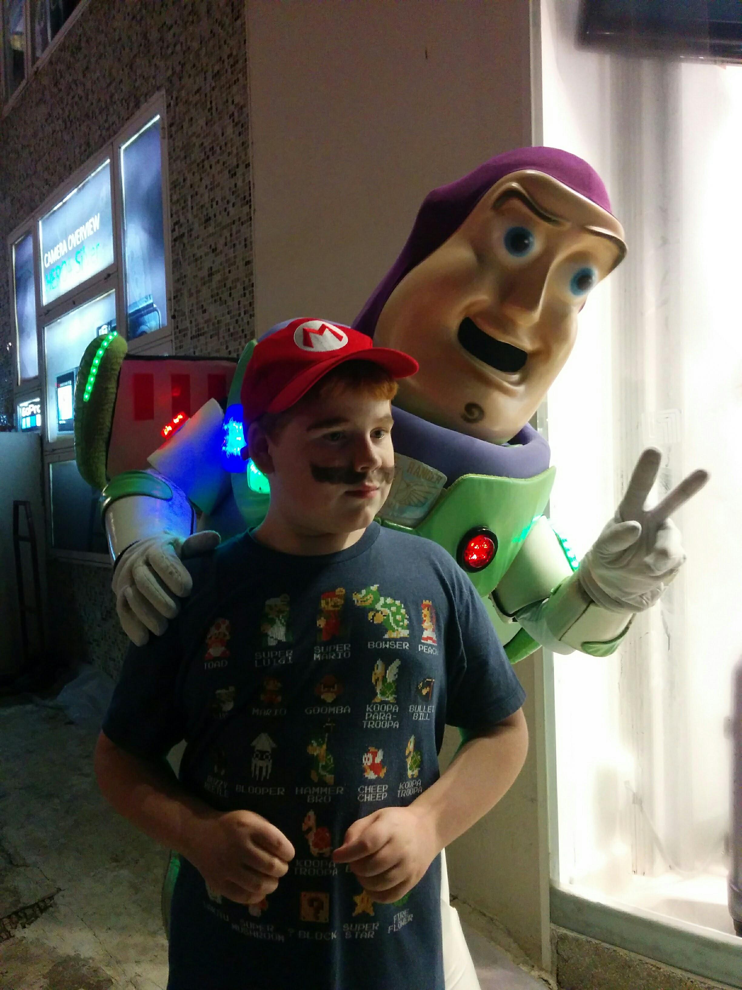 Photo with Buzz Lightyear